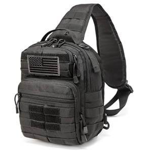 crazy ants tactical sling bag rover molle pack shoulder sling backpack