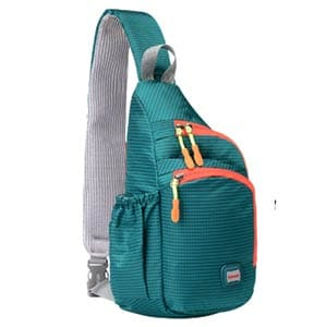 lecxci small outdoor chest sling shoulder bag